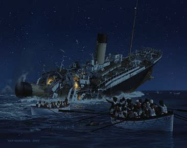 most controversial moment of the sinking. (Painting By: Ken Marschall