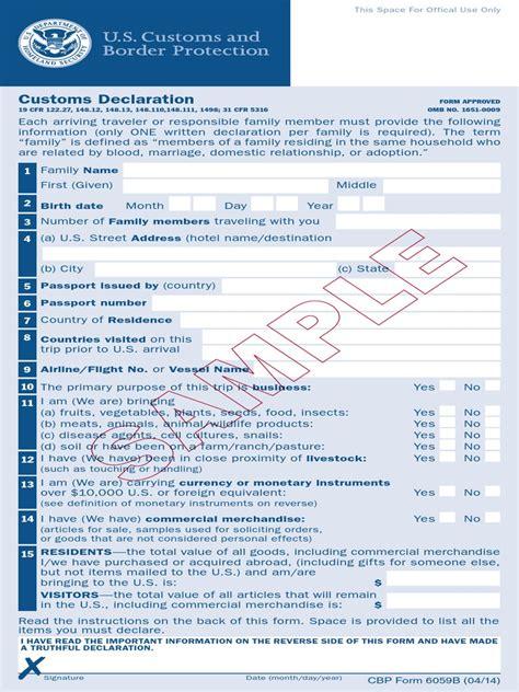 us customs declaration form pdf 12 ways on how to prepare