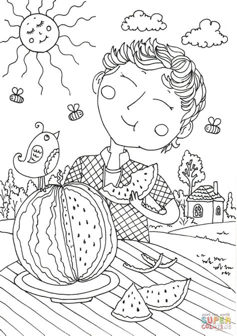 august pages coloring pages