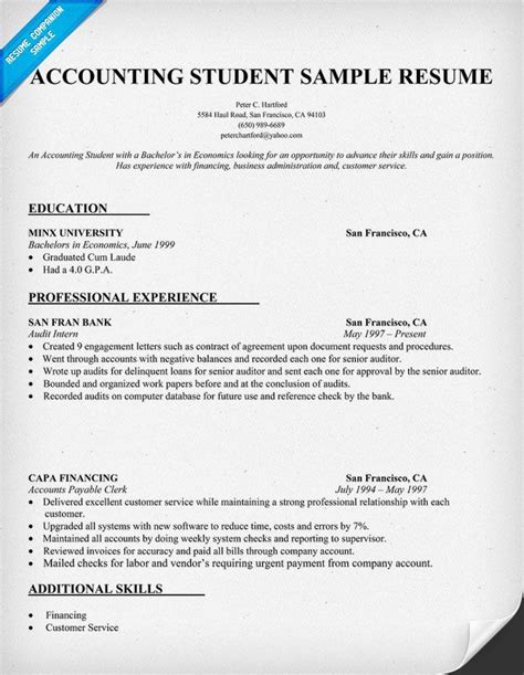 Resume Format For An Accountant by Pin By Resume Companion On Resume Sles Across All