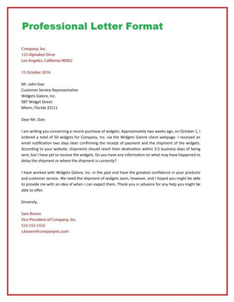 format for a business letter how to write a business letter format how to write letter 30937