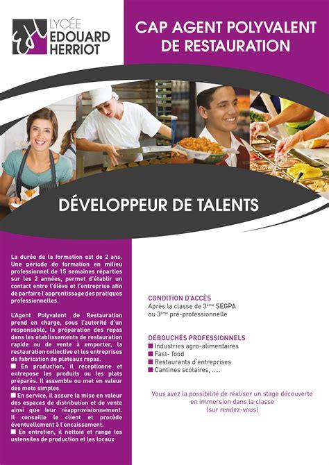 cap cuisine greta cap polivalent de restauration lycée edouard herriot