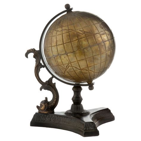 antique brass  world globe  hayneedle