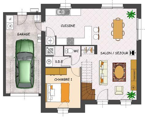 plan maison 4 chambres etage plan maison une chambre 14 plan maison 4 chambres 1