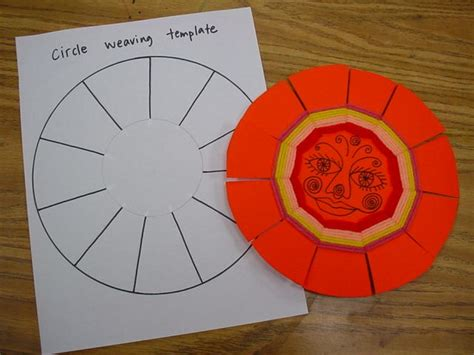 circle weaving  template   helpful  making
