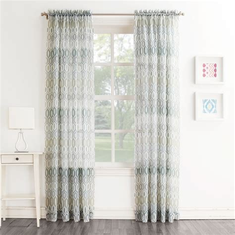 whole home colormate crinkle voile window panel sears