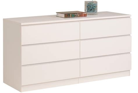 Commode Blanche 6 Tiroirs Nuvola Lestendancesfr