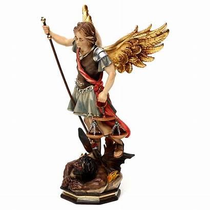 Michael Archangel Scales Saint Statue Valgardena Wood