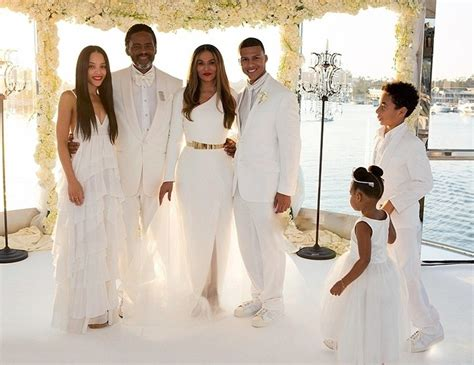 tina knowles wedding pictures  magical blue ivy