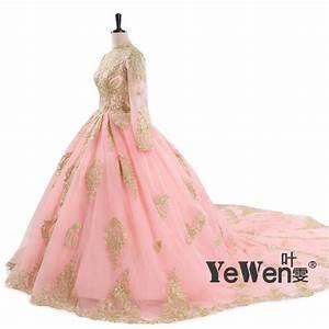 online get cheap ivory gold wedding dress aliexpresscom With pink and gold wedding dress