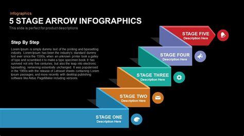 5 stage arrow infographics powerpoint keynote template slidebazaar