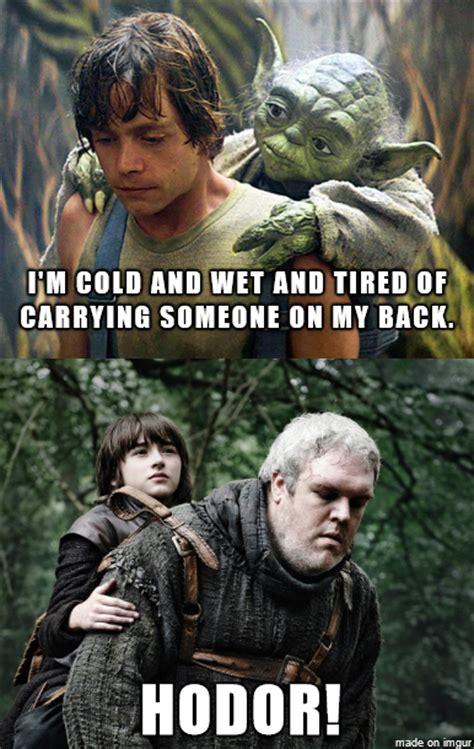 Game Of Thrones Memes Reddit - luke vs hodor warsvthrone