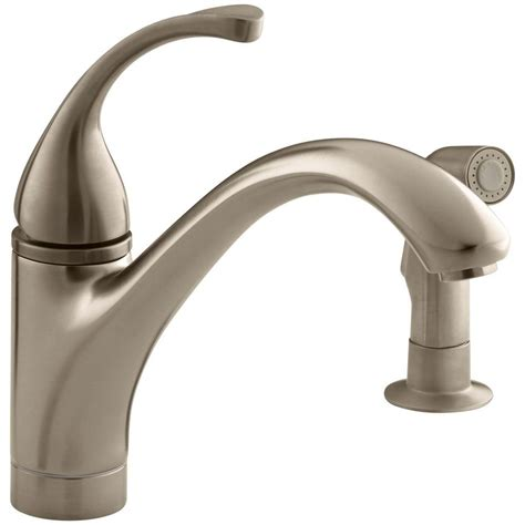 single handle kitchen faucet kohler forte single handle standard kitchen faucet with
