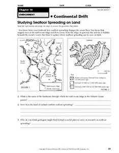 seafloor spreading worksheet davezan