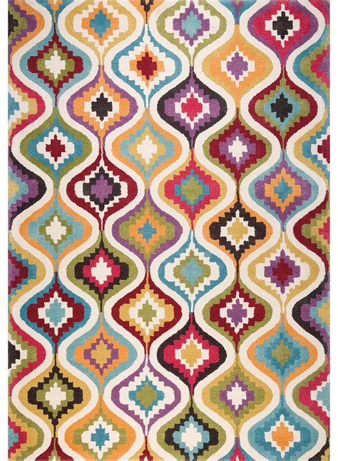 tapis salon tapis grand tapis salon design 7 multicolore de la