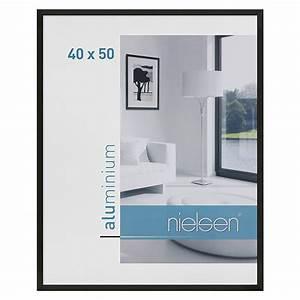 Bilderrahmen 50 X 40 : nielsen bilderrahmen c2 schwarz 50 x 40 cm aluminium 6743 alu wechselrahmen hfda ~ Yasmunasinghe.com Haus und Dekorationen