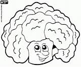 Cauliflower Coloring Pages Vegetables Eat Oncoloring sketch template