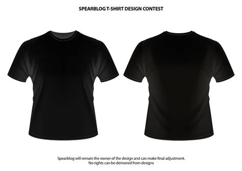 black t shirt template spearblog t shirt and logo design competition spearblog