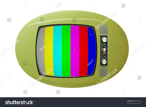 Old Tv With Color Bars On Screen Stock Photo 89391940