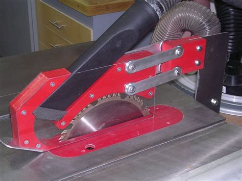 tablesaw blade guard  dust collection woodworking