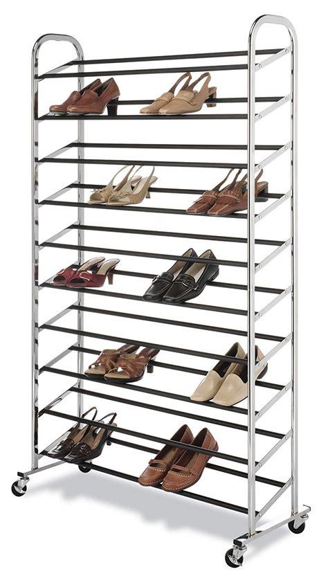 Closet Shoe Racks by Closet Shoe Rack Portable Stand Organizer Chrome Storage