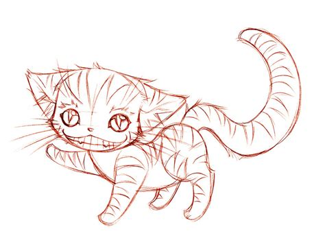 cheshire cat sketch  sureya  deviantart