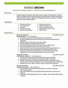 apprentice carpenter resume sample carpenter resumes With carpenter resume sample
