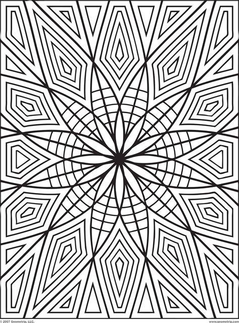 printable geometric design coloring pages   clip art  clip art