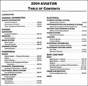 2004 Lincoln Aviator Original Repair Shop Manual
