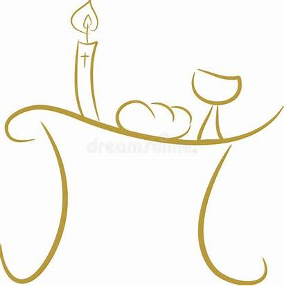 Communion Table Clipart Ii Bread Wine Illustration