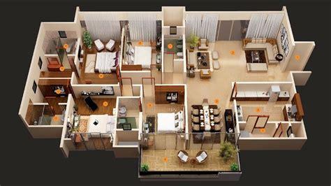 "50 Four ""4"" Bedroom Apartment-house Plans"