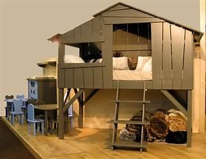 Lit Maison Bois : lit cabane pour que les r ves se transforment en aventure ~ Premium-room.com Idées de Décoration