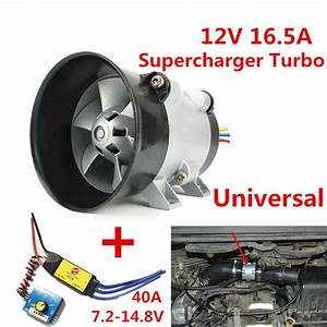 Car Electric Supercharger Turbo Intake Fan Boost 12v W