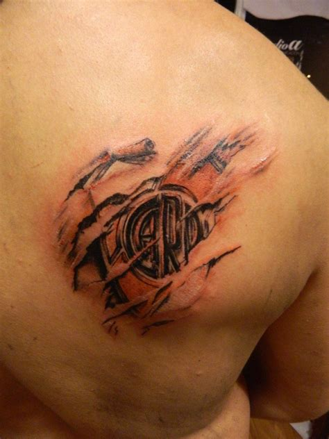 club atletico river plate tattoo by Facundo Pereyra