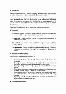 Company handbook template buy the handbook template for Company safety manual template