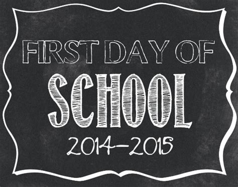 day of school sign template day of school signs 10 free back to school signs