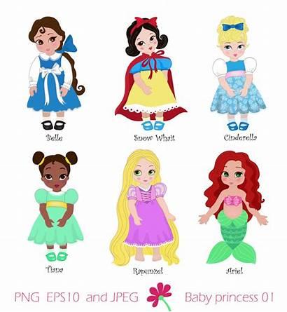 Princess Clipart Disney Belle Cliparts Outline Snow