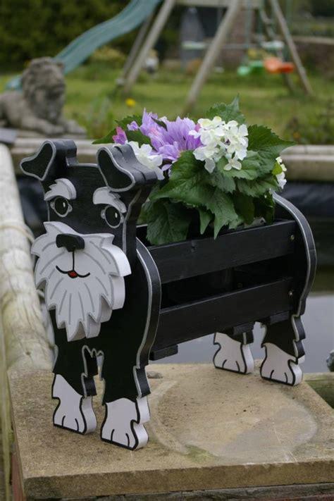 funny cute diy dog planters