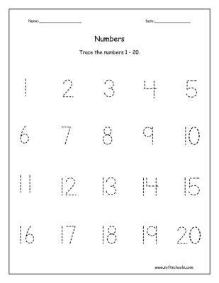 printables traceable numbers worksheets 1 20 trace the numbers 1 20 worksheet download numbers