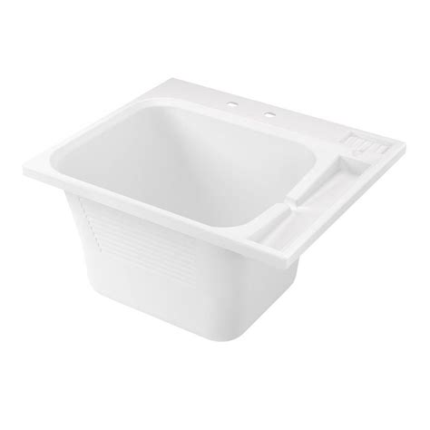 home depot laundry sink asb 22 in x 25 in abs drop in utility sink 100029 the