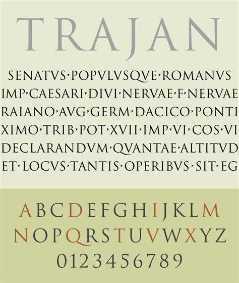 trajan typeface wikipedia