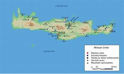 Mapa Creta Minoan Kreta Ancient Civilization Crete