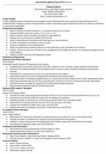 logistics management resume keywords procurement specialist sle resume