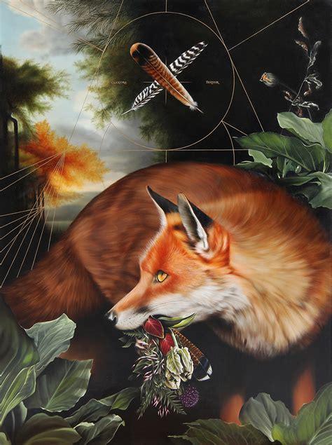 cryptic animal paintings  josie morway scene