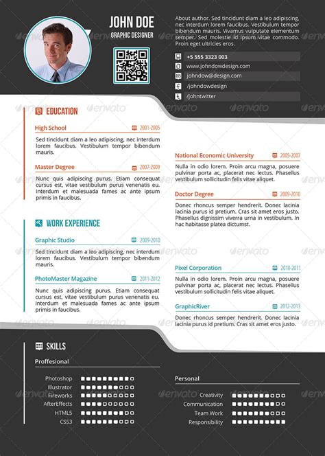simple one page resume design profesional resume template