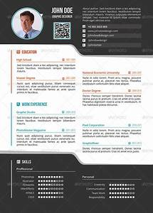 Latest Resume Style Simple One Page Resume Cv By Delimiter Graphicriver