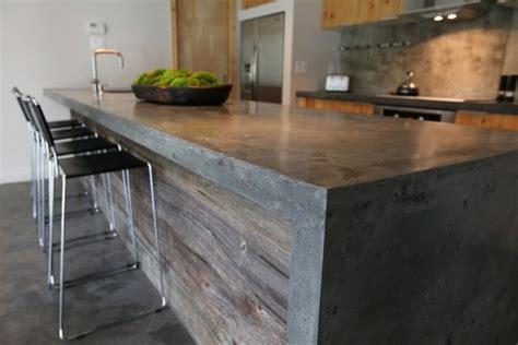 kitchen cabinet concrete table top plan de travail cuisine en 71 photos id 233 es inspirations 7755