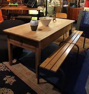 Table Ancienne De Ferme : table de ferme ancienne en merisier d cap puces d 39 oc brocante en ligne ~ Dode.kayakingforconservation.com Idées de Décoration
