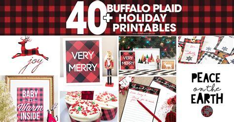 buffalo check plaid printables  printable