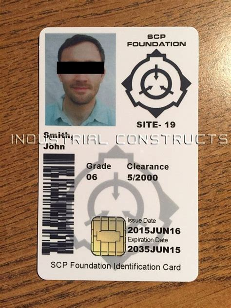 Custom Scp Foundation Id Card  Badge  Secure, Contain